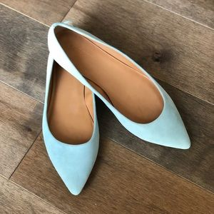 JCrew Pointed suede flats
